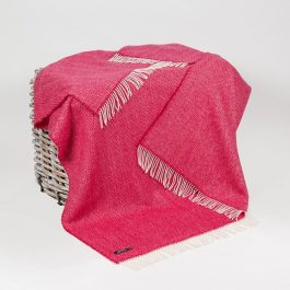 Merino & Cashmere Throw – Pink Mix