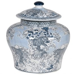 Chinese Cap Lidded Jar