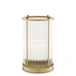 Hurricane – Mayson S (Clear Glass & Antique Brass Finish)