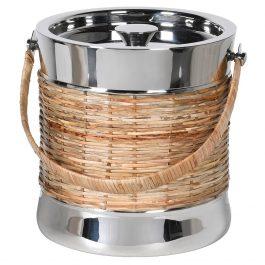 Nkl/cane Ice Bucket W/lid
