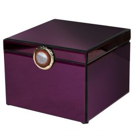 Small Burgundy Box with Agate Stone