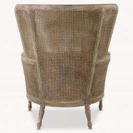 Marlborough Oak Salon Berge Chair with Linen Cushions