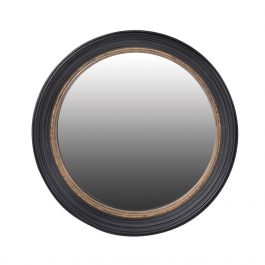 Mirror Convex Black & Gold Frame