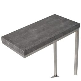 Faux Shagreen Leather Effect Reading Table