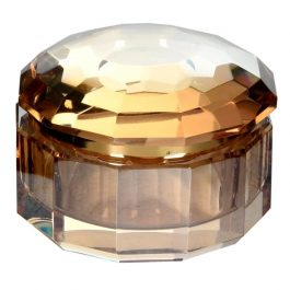Small amber crystal box