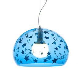 Children's Mini FL/Y Ceiling Light – Stars – Blue