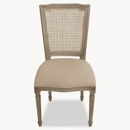 FRENCH DINING CHAIR WITH WICKER BACK