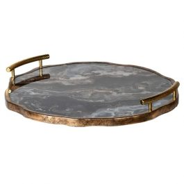 Marble Effect Flat Tray