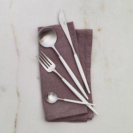 CUTIPOL Goa Cutlery Set – 24 Piece – White