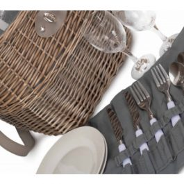 Two Person Willow Creel Picnic Basket