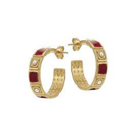 Red Tullia Earrings