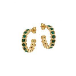 Green Etruria Mini Hoops